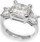 Princess 3-Diamonds Ring